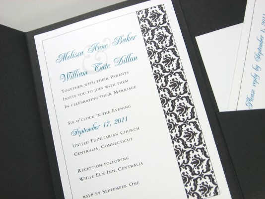 black and white wedding collection