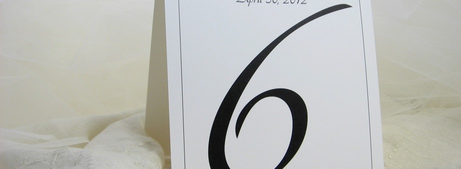 Plain tent table number
